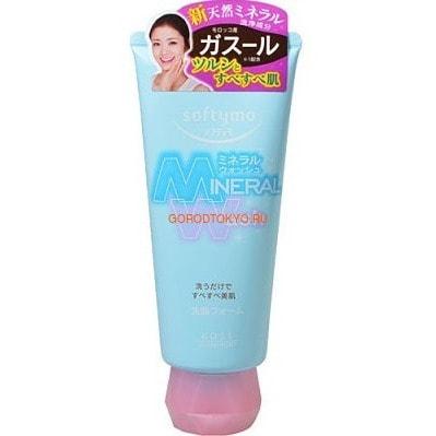 """KOSE Cosmeport """"Softymo Mineral Wash"""" Очищающая пенка для умывания c цветочным ароматом, для жирной кожи, 130 г."""
