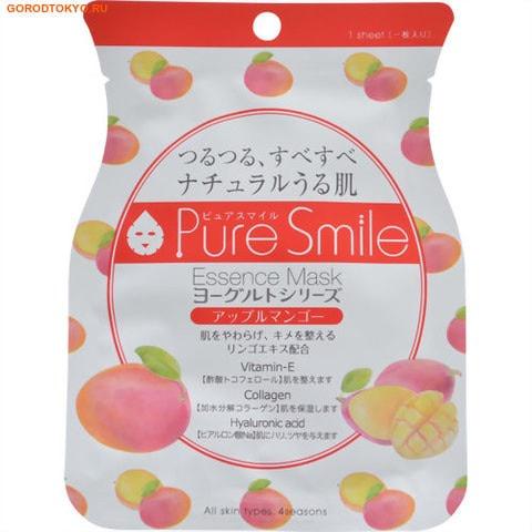 SUN SMILE Pure Smile Yogurt mask Смягчающая маска-салффетка для лица на йогуртовой основе с экстрактом яблока и манго.МАСКИ ДЛЯ ЛИЦА<br>Еженедельный уход - это неотъемлемая процедура для полноценного ухода за кожей лица.  Необходимо каждую неделю использовать различные маски.  Преимущество нужно отдать увлажняющим, питательным, и маскам для повышения упругости кожи.  Все эти функции вы найдете в линии PURE SMILE.  Эти маски - настоящие волшебные палочки, способные моментально преобразить вашу кожу.  Ведь сыворотка, которая используется для пропитки маски, имеет тройную концентрацию активных компонентов.  За короткое время воздействия, маска отдает всю силу полезных ингредиентов вашей коже.  Коллаген в составе сыворотки наполняет кожу влагой, восстанавливает плотность и упругость кожи.  Йогурт содержит аминокислоты, которые обладают мощным увлажняющим действием, а молочная кислота в его составе способствует мягкомутотшелушиванию ороговевших клеток.  Экстракт яблока и манго зарядит кожу бодростью, вернут ей эластичность и яркий тон, смягчают и разглаживают кожу.  Применение: вскройте пакет с маской и нанесите ее на очищенное лицо, используя отверстия для глаз в качестве ориентиров.  Расслабьтесь и наслаждайтесь уходом за собой.  Через 10 -15 минут, аккуратно снимите маску.  Остатки сыворотки вбейте в кожу подушечками пальцев.  Использовать 2- 3 раза в неделю.  Состав: вода, глицерин, PEG/PPG-17/6-сополимер, гидролизованный коллаген, экстракт соевой закваски, экстракт гамамелиса, пыль лунного камня, глицирризинат двукалия, ксантановая камедь, экстракт портулака, гиалуронат натрия, арбутин, эритритол, PEG-14M, EDTA-2Na, метилпарабен, PEG-40-гидрогенизированное касторовое масло, PEG-60-гидрогенизированное касторовое масло, алантоин, феноксиэтанол, ароматизатор, токоферола ацетат.<br>