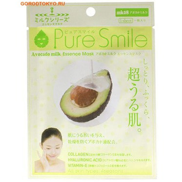 SUN SMILE Pure Smile Milk Mask Молочная питательная маска для лица с маслом авокадо.