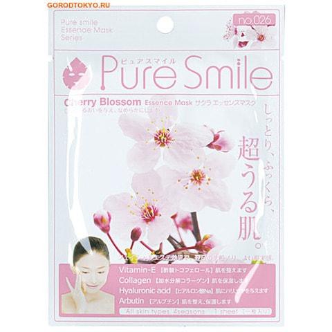 "SUN SMILE ""Pure Smile"" ""Essence mask"" Разглаживающая маска для лица с эссенцией цветков сакуры."