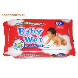 """Фото SHOWA SIKO """"Easy care"""" Влажные салфетки для ухода за нежной кожей тела малышей с экстрактом алоэ вера, 80 шт. в упаковке.. Купить с доставкой"""