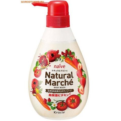 KRACIE Мыло жидкое для тела питательное «Natural Marche – алое наслаждение», 480 мл.