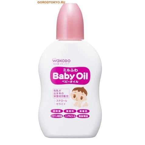 WAKODO Увлажняющее масло для детей «MiluFuwa», 50 мл.Кремы, лосьоны, молочко<br>Увлажняющее масло для детей на основе оливкового масла смягчает кожу малыша и питает ее.  Масло обогащено комплексом стеринов и керамидов, которые повышают естественные защитные функции кожи, улучшают ее состояние, устраняют шелушение и обезвоживание.  Увлажняющими компонентами природного происхождения в масле является сквален.  Глицирретиновая кислота, входящая в состав масла, тонизирует кожу.  Подходит для ежедневного ухода за кожей малыша с первых дней жизни.  Нейтральный показатель pH.  Без добавок, красителей и отдушек.  Не содержит спирта, ПАВ.    Способ применения: нанести на кожу ребенка, дать впитаться.    Состав: капрат, оливковое масло, сквален, керамиды 3, фитостерины х, стеариловый глицирретиновая кислота, токоферол, полиглицерил, стеароил молочная кислота Na.<br>