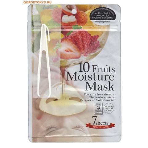 """JAPAN GALS Маска с экстрактом 10-ти фруктов """"Pure5 Essential"""", 7 шт. в упаковке."""
