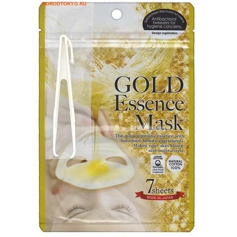 """JAPAN GALS Маска с экстрактом золота """"GOLD Essence Mask"""", 7 шт. в упаковке."""