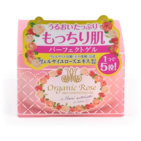 MEISHOKU Organic Rose Skin Conditioning Gel Увлажняющий гель-кондиционер для кожи лица с экстрактом дамасской розы, 90 гр.УВЛАЖНЕНИЕ И ПИТАНИЕ КОЖИ<br>Увлажняющий гель заменяет 5 продуктов: лосьон, косметическое молочко, сыворотку, крем и маску.  Глубоко увлажняет, способствует удержанию влаги в коже.  Делает кожу упругой, здоровой и подтянутой. Устраняет проблемы кожи, вызванные сухостью.  В состав геля входят нанокапсулы, содержащие экстракт ячменя, удерживающие влагу в коже и коллаген для упругости, а также цветочную воду дамасской розы - компонент, нормализующий состояние кожи. Экстракт дамассой розы увлажняет, освежает и тонизирует уставшую кожу, нормализует обменные процессы в коже, насыщает ее витаминами.  Увлажняющий гель позволяет осуществить завершающий уход за кожей с помощью одного средства.    Способ применения: после очищения кожи лица нанесите небольшое количество геля похлопывающими движениями до полного впитывания.  На особенно сухие участки нанесите пордукт повторно.    Состав: вода, BG, глицерин, дипропиленгликоль, диметикон, масло жожоба, бетаин, масло семян пенника лугового, PEG-40 гидрогенезированное касторовое масло, поливиниловый спирт, карбомер, феноксиэтанол, ксантановая камедь, натрия гидроксид, отдушка, натрия полиакрилат, бензофенон-4, EDTA-2Na, токоферол, экстракт дамасской розы, цветочная вода из лепестков дамасской розы, гидрогенезированный лецитин, соевый стерол, гидролизированный коллаген, экстракт коикса.<br>
