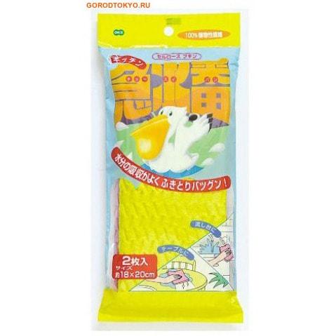 "Ohe Corporation ""Kitchen Sponge"" Абсорбирующая губка для кухни из целлюлозы, 2 шт., 18х20 см."
