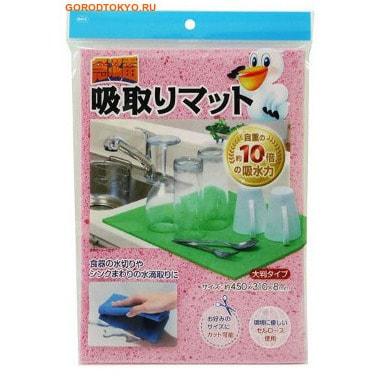 Ohe Corporation Kitchen Sponge Абсорбирующая губка для кухни из целлюлозы, 300х220х8 мм.Губки и щётки для чистки ванны, туалета и других поверхностей<br>Губка из целлюлозы используется для мытья посуды, стен, кухонной мебели и столешниц.  Она незаменима для уборки на кухне и в ванной.  Превосходно впитывает влагу, легко отжимается, не оставляет разводов.  Подходит для любых поверхностей.  Обладает антибактериальными свойствами.  Не вызывает аллергических реакций.    Во влажном состоянии губка мягкая, приятная на ощупь и эластичная.  В сухом состоянии целлюлоза твердеет, что препятствует размножению бактерий и микробов.        Состав: 100% целлюлоза.<br>
