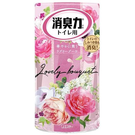 ST Shoushuuriki Жидкий дезодорант – ароматизатор для туалета с ароматом розовых цветов, 400 мл.Для туалета<br>Освежители воздуха для туалета обладают восхитительными ароматами на любой вкус.  Средство предназначено для очищения воздуха, нейтрализации неприятных запахов и дезодорации воздуха в туалетных комнатах.  Природные дезодорирующие компоненты высокой концентрации полностью избавляют от неприятных запахов и наполняют помещение приятным ароматом жасмина.  Благодаря флакону с функцией регулирования интенсивности аромата, действие освежителя длится 2-3 месяца. <br> Состав: ПАВ, растительные эфирные масла, ароматизаторы. <br> Способ применения: удалите защитный колпачок.  Установите регулятор интенсивности аромата в зависимости от ароматического действия.<br>