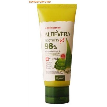 """WHITE COSPHARM """"Organia Aloe Vera Soothing Gel"""" 98% Универсальный увлажняющий гель с Алоэ Вера Смягчающий и Успокаивающий, 98% Алоэ (супер концентрат) + Витамин В5, 100 гр."""