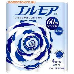"""Kami Shodji ELLEMOI"""" Ароматизированная однослойная туалетная бумага, 4 рулона по 60 метров. Аромат полевых цветов. (фото)"""