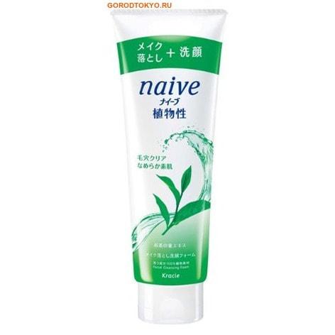 KRACIE «Naive» Пенка для снятия макияжа с экстрактом листьев чайного дерева, для проблемной кожи, 190 гр.