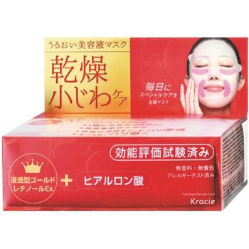 Фото KRACIE «Hadabisei» Маска для лица против морщин с пчелиным маточным молочком и гиалуроновой кислотой, 30 шт.. Купить с доставкой