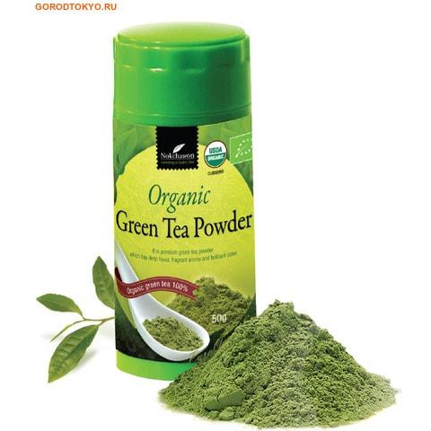 NOKCHAWON Корейский органический зелёный чай, в порошке, 50 гр.