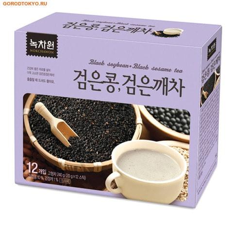 NOKCHAWON Напиток из чёрных бобов и чёрного кунжута, 240 гр. (12х20 гр.).