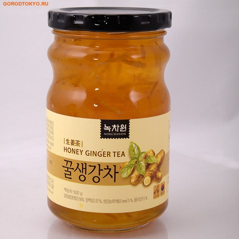 NOKCHAWON Напиток из имбиря с мёдом, стеклянная банка, 500 гр.