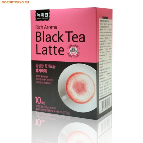 NOKCHAWON Латте со вкусом чёрного чая, 150 гр. (10х15 гр.).
