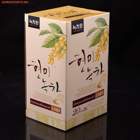 NOKCHAWON Зелёный чай с коричневым рисом, 30 гр. (20х1.5 гр.). от GorodTokyo
