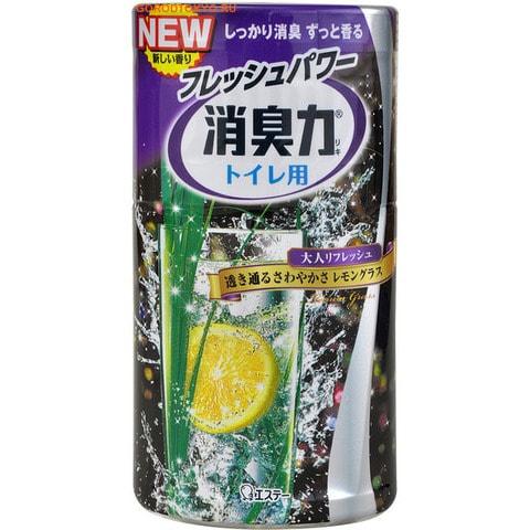"""Фото ST """"Shoushuuriki"""" Жидкий дезодорант – ароматизатор для туалета с ароматом лемонграса, 400 мл.. Купить с доставкой"""