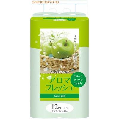 FUJIEDA FUJIEDA SEISHI Туалетная бумага двухслойная, с ароматом зеленого яблока, 12 рулонов по 27,5 метров. туалетная бумага анекдоты ч 8 мини 815605