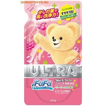 """NISSAN Жидкое мыло для стирки детского белья """"FaFa ULTRA"""" с ягодным ароматом, сменный блок, 360 мл."""