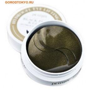 """PETITFEE """"Black Pearl & Gold Hydrogel Eye Lifting Patch"""" Маска для кожи вокруг глаз гидрогелевая, c чёрным жемчугом и золотом, 60 шт."""