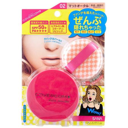 "Sana ""SPF 50 Covercom powder"" Пудра компактная для лица, SPF 50, тон 02, 10 г. (фото)"