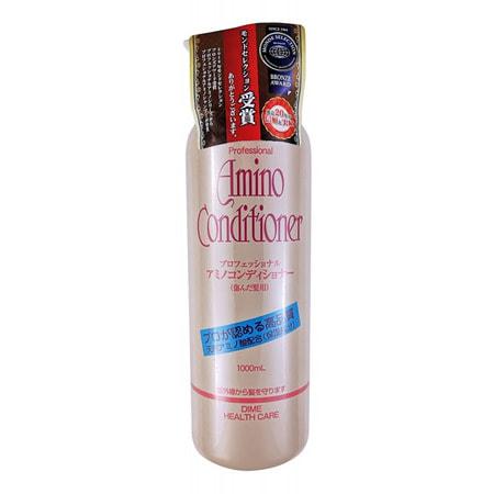 DIME Кондиционер с аминокислотами для поврежденных волос, 1000 мл.Серия с аминокислотами для поврежденных волос<br>PROFESSIONAL AMINO CONDITIONER <br> Кондиционер с аминокислотами для поврежденных волос <br> Описание: Слабокислотный кондиционер с содержанием аминокислот.  Аминокислоты энергетически богатые вещества, оживляющие обменные процессы в коже головы, что способствует укреплению волосяной фолликулы и улучшению питания волос. Входящий в состав кондиционера гидролизированный коллаген является компонентом, способствующим сохранению необходимой увлажненности волос.  Кондиционер придает блеск и мягкость волосам поврежденным, сухим, после химической завивки и окрашивания.  Входящий в состав кондиционера пантенол защищает волосы от воздействия УФ-лучей.  Рекомендован для применения в салонах и домашнего ухода   Способ применения: нанесите на чистые влажные волосы необходимое количество средства, распределите, оставьте на 3-7мин., хорошо промойте теплой водой.  Состав: вода, цетанол, диметиламмониум хлорид, стеариновая кислота ПЕГ-10, циклометикон, PG, глутаминат натрия, пантенол, лимонная кислота, оксибензон-4, стеаламидэтилдиэтиламин, парабены, этанол, сульфат калия, феноксиэтанол, метилпарабен, пропилпарабен.  Условия хранения: избегать прямого воздействия солнечных лучей.  1000 мл.<br>