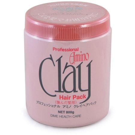 DIME Маска для поврежденных волос с аминокислотами и глиной, 800 мл.