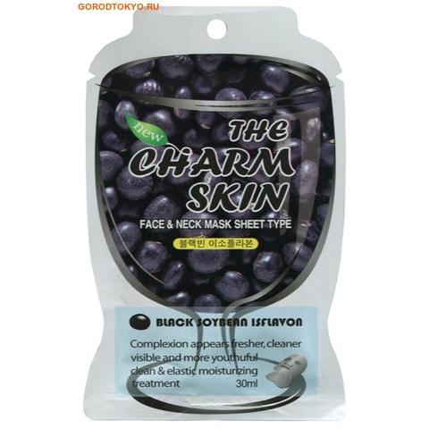 """Face & neck mask sheet type (Black soybean isflavon)"" Маска-салфетка для лица и шеи (изофлавоны чёрных соевых бобов), 30 мл."