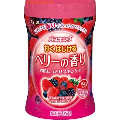 """HAKUGEN """"Bath King"""" Соль для ванны с восстанавливающим эффектом на основе углекислого газа с ароматам сладких ягод, банка, 680 гр."""