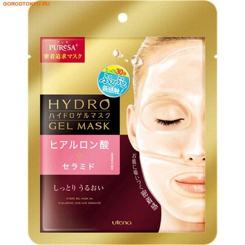 UTENA Puresa Увлажняющая гидрогелевая маска с гиалуроновой кислотой и церамидами, 25 гр.МАСКИ ДЛЯ ЛИЦА<br>Основа маски состоит из натуральных загустителей, которые позволяют ей плотно прилегать к коже  лица.  Так полезные компоненты легко проникают в более глубокие слои кожи, избавляя ее от морщин и дряблости. Гиалуроновая кислота помогает справиться с воспалениями, заполнить сетку из морщин, увлажняет кожный покров, тем самым сохраняя ее красивый и молодой вид.  Церамиды усиливают защитную функцию кожи лица, увлажняя ее. <br> Способ применения: после умывания обработайте кожу лосьоном перед применением этой маски.  Охлаждающая маска запечатана в прозрачную пленку сверху и снизу.  Снимите ее перед применением.  Снимите верхнюю пленку с маски, совместите ее с глазами и приложите плотно, чтобы не попадал воздух, затем снимите с нижней части, совместите маску с ртом.  Через 20- 30 минут снимите маску, а жидкость, которая осталась на коже, хорошо разотрите.  Применяйте 1-2 раза в неделю. <br> Состав: вода, BG, глицерин, этилгексанат цетила, экстракт грейпфрута,  гиалуронат натрия, ванный церамиды-3, гидрогенезированный полидецен, октилдедеканол, гидрогенезированный полидецен, гидрогенезированный лецитин, каприлгликоль, тридецен-6, полисорбет-20, каррагинан, камедб рожков бобового дерева, полиакрилат натрия, целлюлозная смола, феноксиэтанол, ароматизатор.<br>