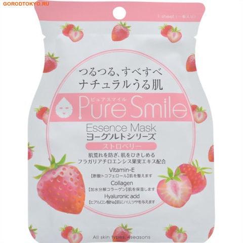 SUN SMILE Yogurt mask Выравнивающая тон кожи маска для лица на йогуртовой основе с экстрактом клубники, 23 мл.СРЕДСТВА ПРОТИВ ПИГМЕНТАЦИИ - ДЛЯ ОТБЕЛИВАНИЯ КОЖИ<br>Еженедельный уход - это неотъемлемая процедура для полноценного ухода за кожей лица.  Необходимо каждую неделю использовать различные маски.  Преимущество нужно отдать увлажняющим, питательным, и маскам для повышения упругости кожи.  Все эти функции вы найдете в линии PURE SMILE.  Эти маски - настоящие волшебные палочки, способные моментально преобразить вашу кожу.  Ведь сыворотка, которая используется для пропитки маски, имеет тройную концентрацию активных компонентов. За короткое время воздействия, маска отдает всю силу полезных ингредиентов вашей коже.  Коллаген в составе сыворотки наполняет кожу влагой, восстанавливает плотность и упругость кожи.  Йогурт содержит аминокислоты, которые обладают мощным увлажняющим действием, а молочная кислота в его составе способствует мягкомутотшелушиванию ороговевших клеток.  Экстракт клубники смягчает пигментацию, выравнивает тон и рельеф кожи, способствует ее регенерации.  Применение: вскройте пакет с маской и нанесите ее на очищенное лицо, используя отверстия для глаз в качестве ориентиров.  Расслабьтесь и наслаждайтесь уходом за собой.  Через 10 -15 минут, аккуратно снимите маску.  Остатки сыворотки вбейте в кожу подушечками пальцев.  Использовать 2- 3 раза в неделю.<br>