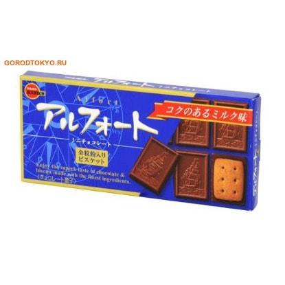 BOURBON «Alfort Mini Chocolate» Песочное печенье покрытое молочным шоколадом, 59 гр.