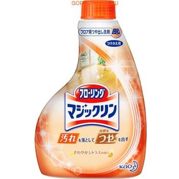 KAO «Magiclean Bath» Универсальное моющее средство для мытья пола, с ароматом свежести, 400 мл, сменная упаковка.