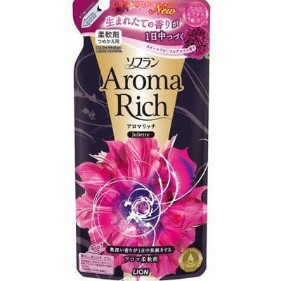"""LION Кондиционер для белья """"SOFLAN"""" - """"Aroma Rich Juliette"""" с натуральными ароматическими маслами, 480 мл. Сменный блок."""