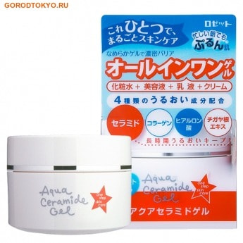 ROSETTE «Ceramide Gel» Многофункциональный гель для лица 4 в 1 с гиалуроновой кислотой, морским коллагеном и церамидами, 80 гр.