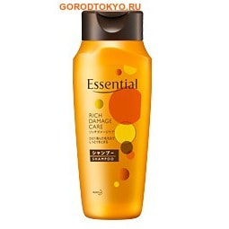 KAO Essential Damage Care Rich Премиум-шампунь для волос, часто подвергающихся термическим и химическим воздействиям, 200 мл.