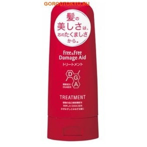 LION «Free & Free Damage Aid» - Восстанавливающий кондиционер для поврежденных окрашиванием волос, с цветочным ароматом, 200 мл.