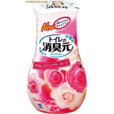 """KOBAYASHI """"Shoshugen"""" Жидкий дезодорант для туалета с ароматом розы, 400 мл."""