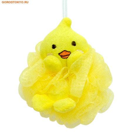 "KOKUBO ""Furocco Kids"" - Жёлтый Утенок, детская массажная мочалка."