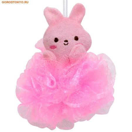 """KOKUBO """"Furocco Kids"""" - Розовый кролик, детская массажная мочалка."""