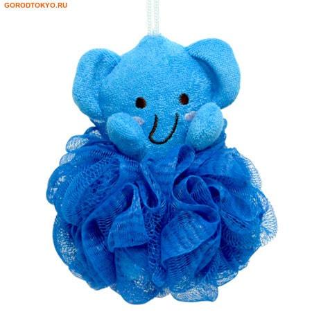"""KOKUBO """"Furocco Kids"""" - Синий слонёнок, детская массажная мочалка."""