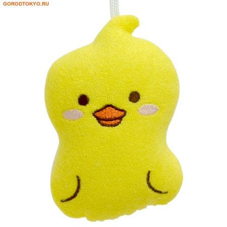 "KOKUBO ""Furocco Kids"" - Жёлтый Утенок, детская мочалка-спонж."