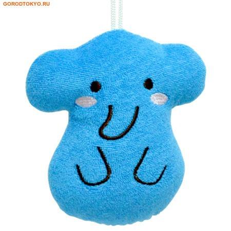 KOKUBO Furocco Kids - Синий слонёнок, детская мочалка-спонж.Детские мочалки<br>Эта мочалка-спонж прекрасно моет, вспенивает мыло и сохнет. Она имеет небольшой размер и предназначена для детей.  Создает много пены из небольшого количества мыла.  Состав: 80% хлопок, 20% полиэстер.<br>