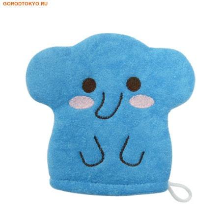 """KOKUBO """"Furocco Kids"""" - Синий слонёнок, детская рукавичка для мытья тела."""