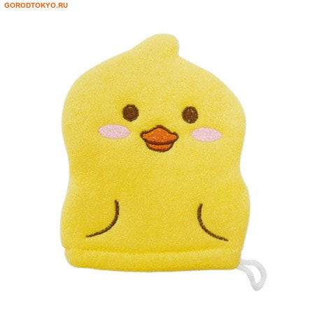 KOKUBO Furocco Kids - Жёлтый утёнок, детская рукавичка для мытья тела.Детские мочалки<br>Эта мочалка прекрасно моет, вспенивает мыло и сохнет.  Она имеет небольшой размер и предназначена для детей.  Создает много пены из небольшого количества мыла. <br> Состав: внешняя ткань: полиэстер (100%); внутренняя часть: полиуретан (100%); веревочная петля: полиэстер (100%); узорная вышивка: полиэстер, искусственный шёлк.<br>