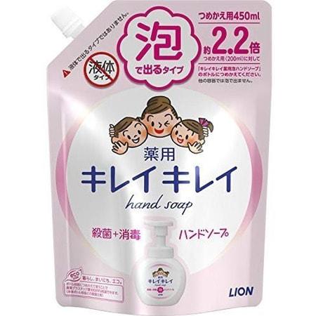 LION Kirei kirei Жидкое пенное мыло для рук с ароматом цитрусовых, сменная упаковка, 450 мл.Жидкое мыло для рук<br>Пенящееся жидкое мыло с приятным ароматом цитрусовых создает обильную пену, которая бережно очищает и ароматизирует кожу рук, оставляя после мытья ощущение свежести и гладкости кожи.  Содержит мягкие, очищающие компоненты, природного происхождения, масло лимона и антибактериальный компонент IPMP с высокими очищающими свойствами.  Состав: тимол, метилфенол, PG, гидроксид калия, лаурик, миристин, стеорил, лаурил диметил бетаин, этанол амин, ароматизаторы, полистироловая эмульсия, EDTA.<br>