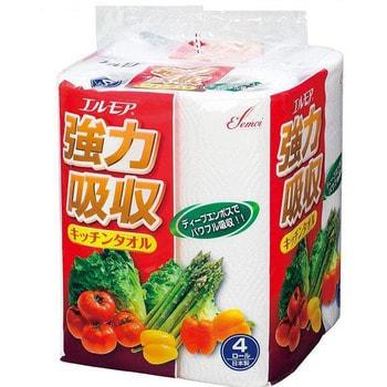 """Kami Shodji """"Ellemoi"""" Бумажные полотенца для кухни, 4 рулона по 50 отрезков. (фото)"""