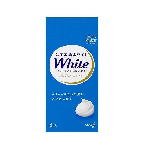 """KAO """"White"""" Увлажняющее крем-мыло для тела, с ароматом белых цветов, 6 шт. х 85 гр."""